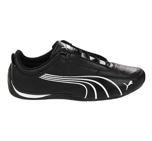 6edf35528c4 Puma Drift Cat 4 Black Leather Mens Trainers Running Shoes Sneakers
