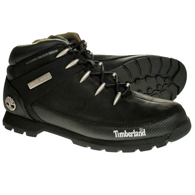 TIMBERLAND 'EURO SPRINT' BOOTS SUADE BLACK/CARBON EFFECT