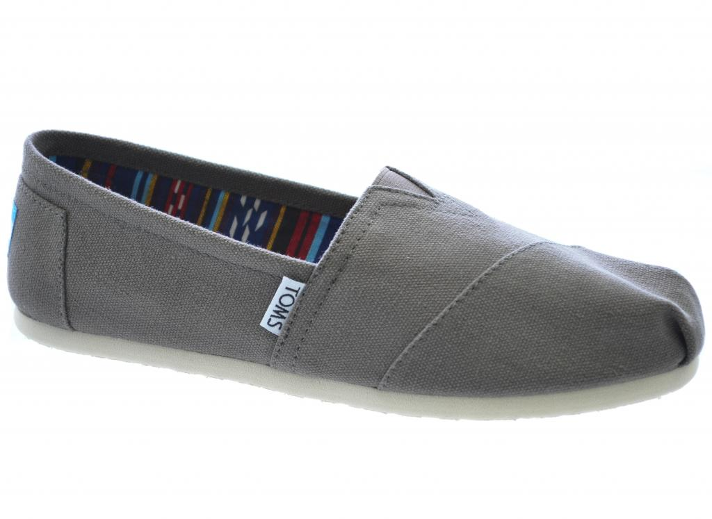 f1486853cf8 TOMS GREY CLASSIC ORIGINAL CANVAS PUMPS ESPADRILLES CASUAL SLIP ON GREAT  QUALITY